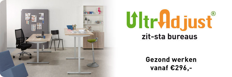 De voordelige Ultradjust zit-sta bureaus van Van Dooren Kantoormeubelen!